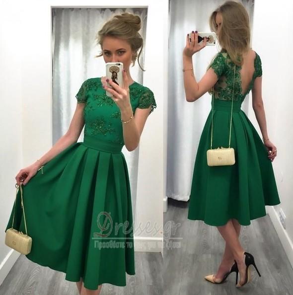 6a71b8c56c74 Κοντομάνικο Μέχρι το Γόνατο Κόσμημα Φυσικό Βραδινά φορέματα - Σελίδα 1 ...