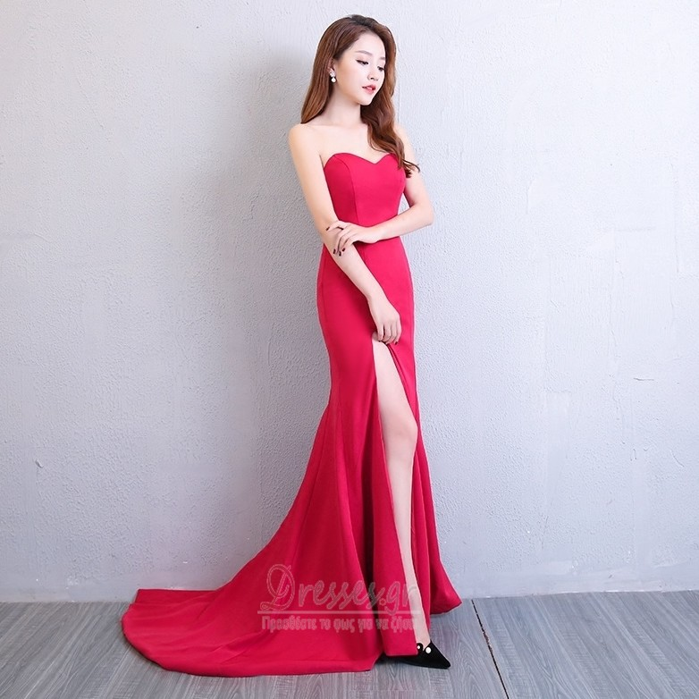 8a983c3ee76 ... Γραμμή Α Άνοιξη Αμάνικο Κομψό Φυσικό Μπροστινό Σκίσιμο Βραδινά φορέματα  - Σελίδα 4 ...
