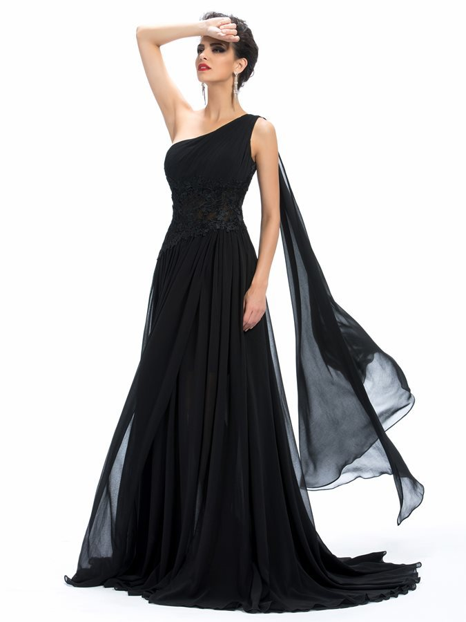 476fcecd5fe Φυσικό Κλεψύδρα Σιφόν Ένας Ώμος Αμάνικο Μακρύ Βραδινά φορέματα - Σελίδα 1  ...