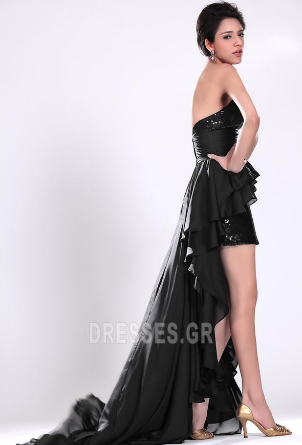 Σιφόν Μαύρο φύλλο Φυσικό Φερμουάρ επάνω σύγχρονος Κοκτέιλ φορέματα - Σελίδα 4