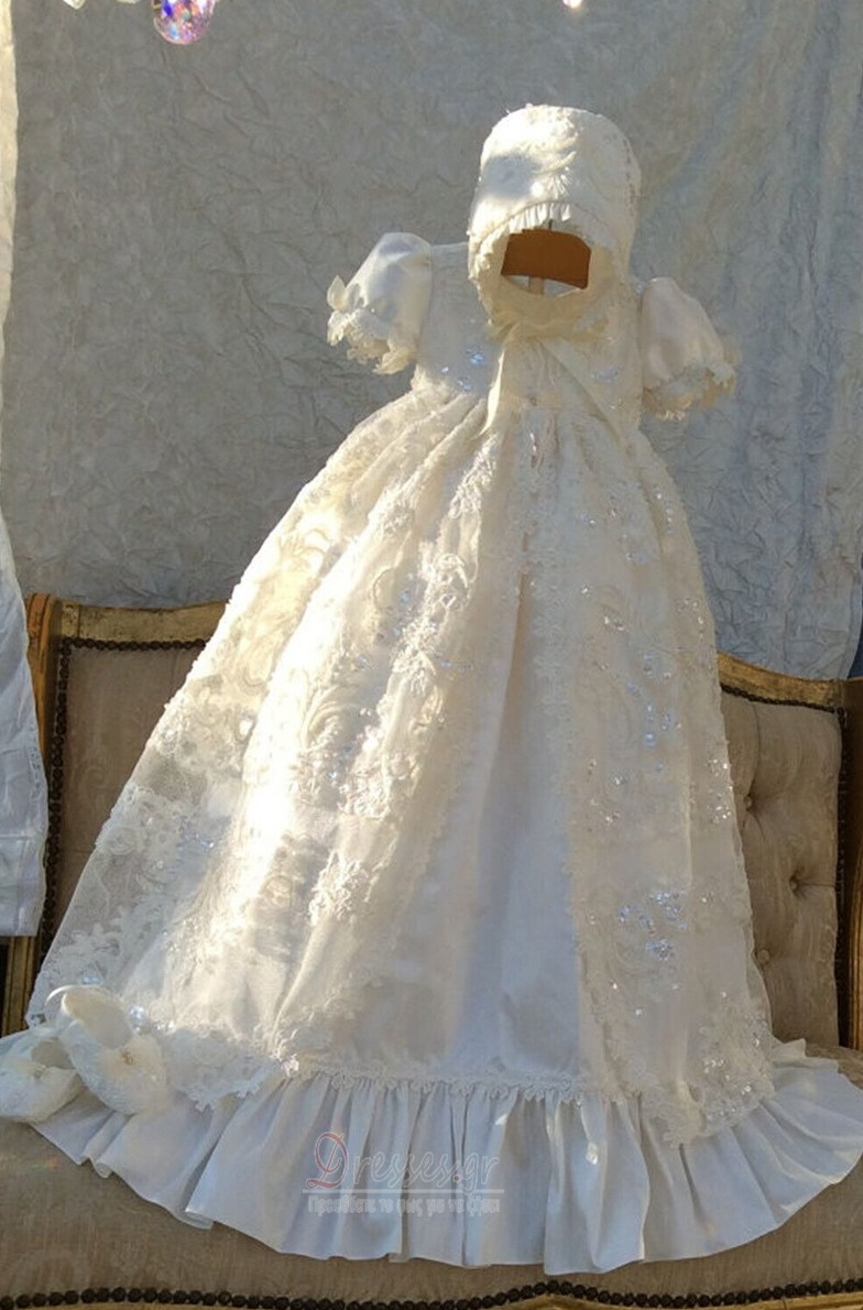 60fcf34f09f Σατέν Άνοιξη Υψηλή καλύπτονται Επίσημη Κοντομάνικο Φόρεμα Βάπτισης - Σελίδα  1 ...
