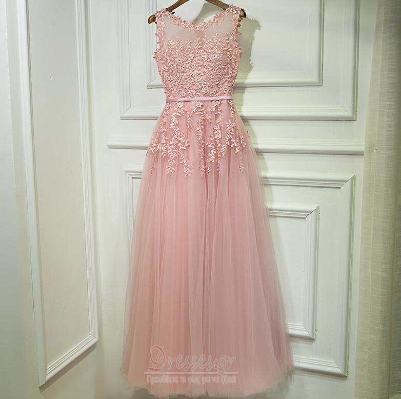 9be7b85f952 Αμάνικο Φυσικό Σέσουλα Δαντέλα επικάλυψης Παράνυμφος φορέματα ...