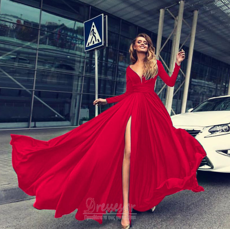 d5aa96266ff ... Μπροστινό Σκίσιμο Κοντομάνικο Βαθιά v-λαιμός Βραδινά φορέματα - Σελίδα  4 ...
