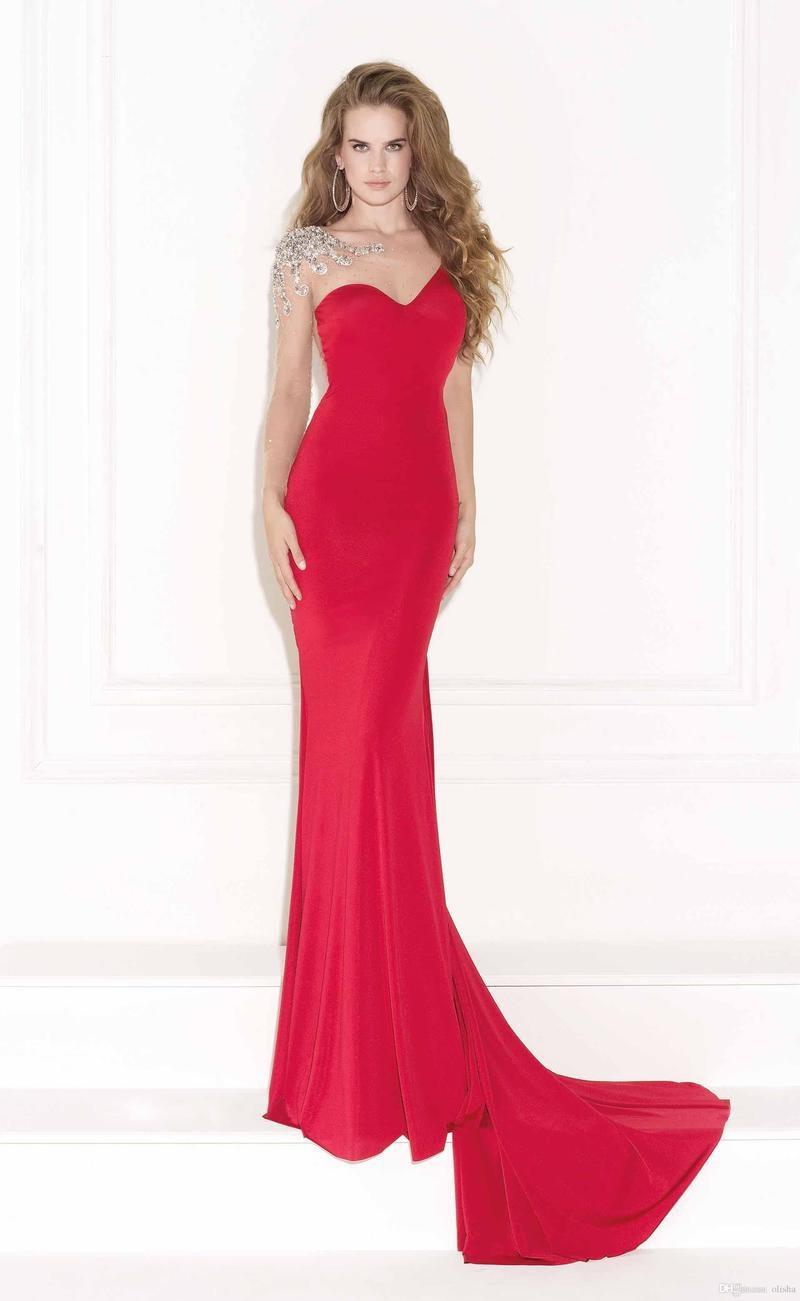 Μακρύ Μανίκι Επίσημη Κόσμημα Καθαρή πλάτη Βραδινά φορέματα 47611b672e7