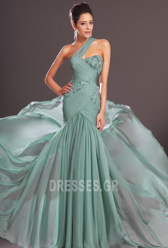 Φθινόπωρο πιέτα δραματική Τονισμένα ροζέτα Βραδινά φορέματα - Σελίδα 3