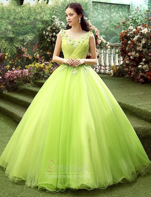 93840fa208d8 Φυσικό Κόσμημα Τούλι Δαντέλα-επάνω Γραμμή Α Μπάλα φορέματα - Σελίδα 1 ...