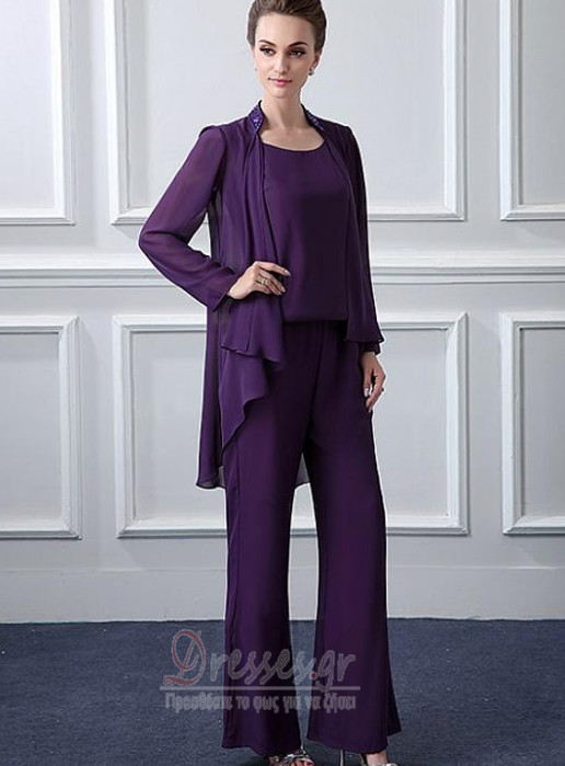 9089373e9943 ... Μακρύ Μανίκι Σιφόν Ντραπέ Μέχρι τον αστράγαλο Παντελόνι κοστούμι φόρεμα  - Σελίδα 2 ...