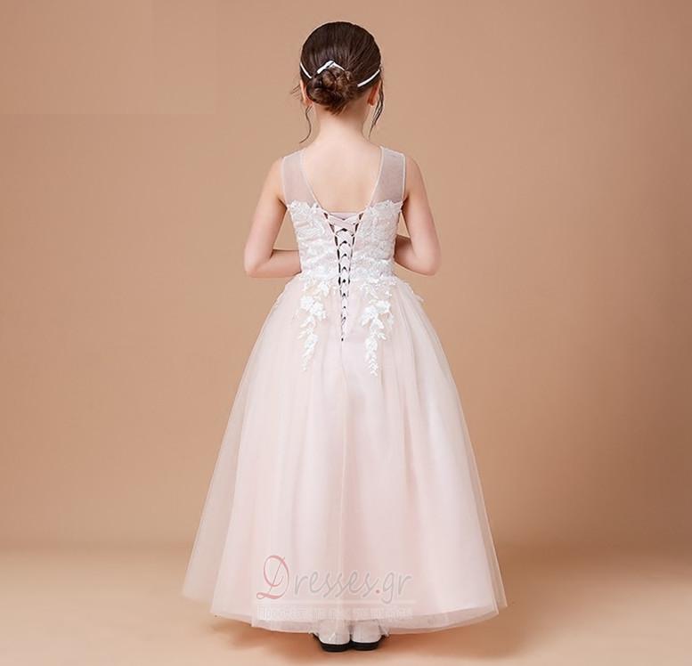 4867f1b44755 ... Φυσικό Φθινόπωρο Δαντέλα-επάνω Επίσημη Αμάνικο Λουλούδι κορίτσι φορέματα  - Σελίδα 2 ...