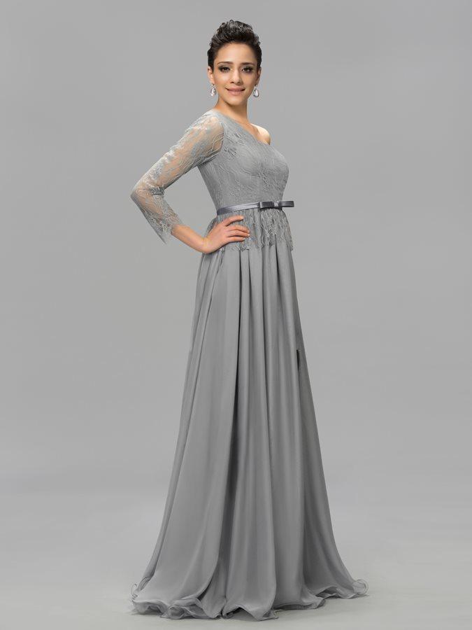 ... Αχλάδι Μακρύ Μανίκι Σιφόν Φυσικό Ένας Ώμος Βραδινά φορέματα - Σελίδα 2  ... f34dc23e420