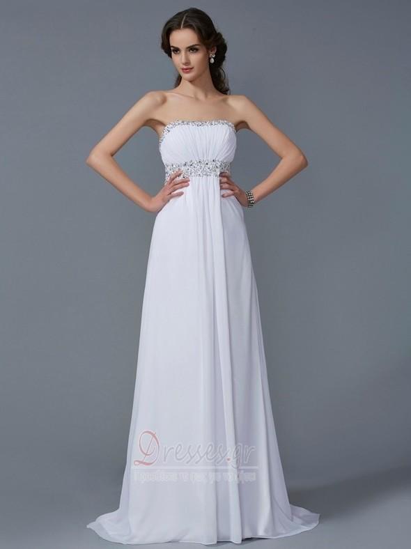 b20ede42eb85 Στράπλες Σιφόν Γραμμή Α Καλοκαίρι Φυσικό Μπάλα φορέματα - Σελίδα 1 ...