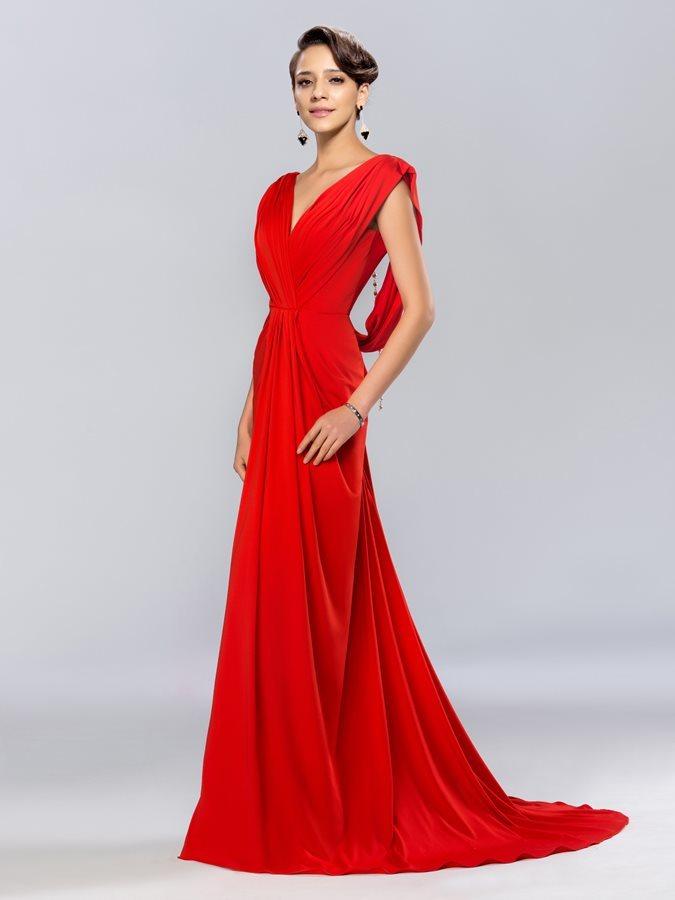 d9b1d7168d98 Λαιμόκοψη V Φθινόπωρο Αμάνικο Τραίνο σκουπισμάτων Βραδινά φορέματα - Σελίδα  1 ...