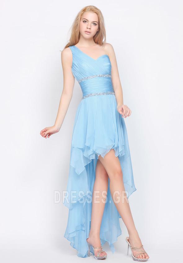 bdaf813746a Σιφόν Φυσικό Οι πτυχωμένες μπούστο Ασύμμετρη Βραδινά φορέματα ...