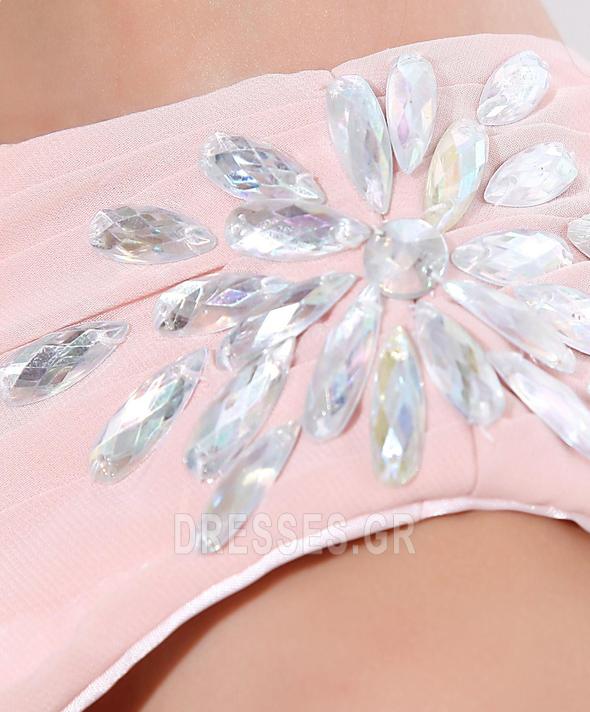 Οι πτυχωμένες μπούστο φαντασία Σιφόν Ένας Ώμος Παράνυμφος φορέματα - Σελίδα 8