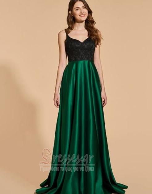 4c192b162e37 Ντραπέ Γραμμή Α Δαντέλα επικάλυψης Λαιμόκοψη V Βραδινά φορέματα - Σελίδα 1  ...