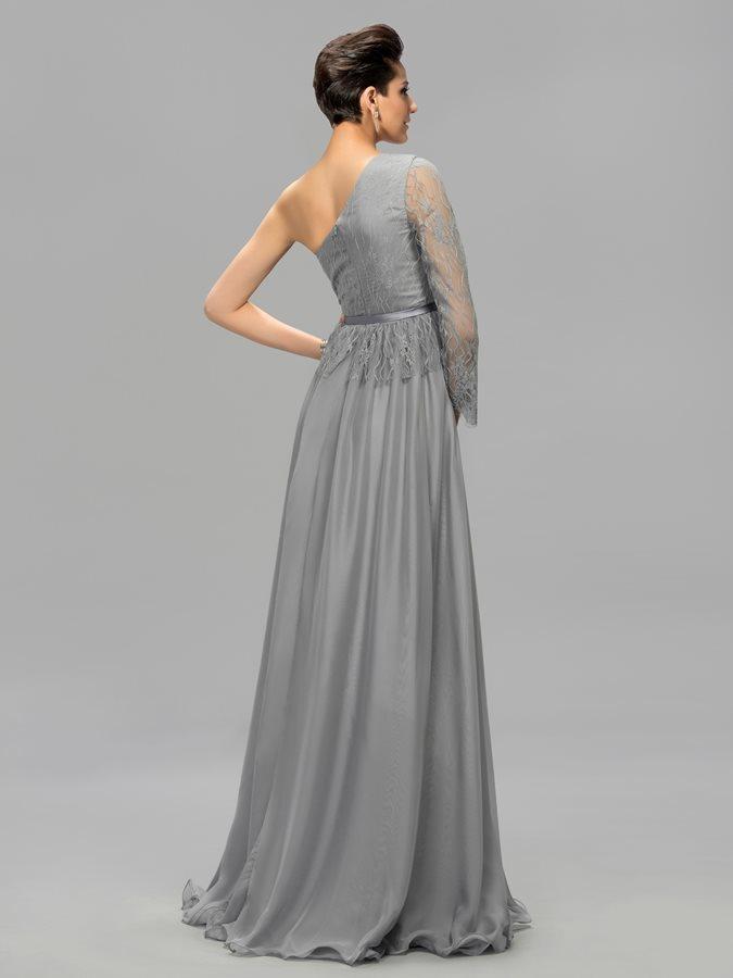 ... Αχλάδι Μακρύ Μανίκι Σιφόν Φυσικό Ένας Ώμος Βραδινά φορέματα - Σελίδα 3  ... bf2ba0e35fe
