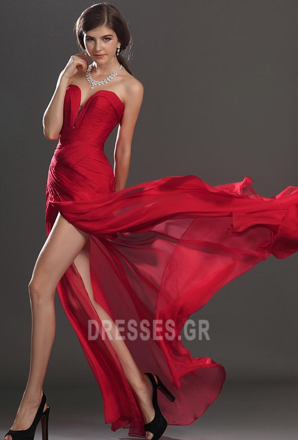Κόσμημα τονισμένο μπούστο Θήκη Σιφόν Αμάνικο Μπάλα φορέματα - Σελίδα 5