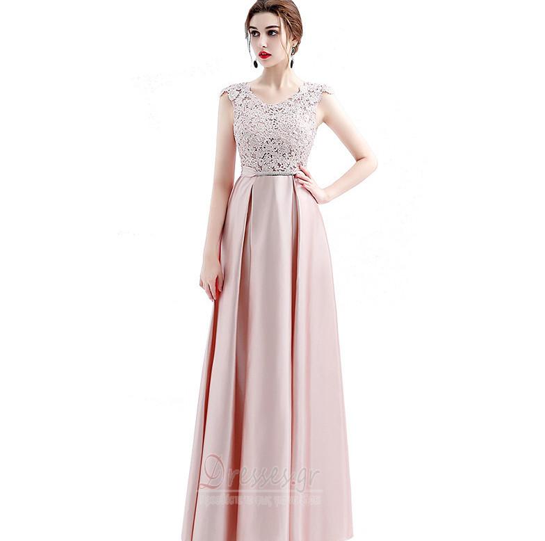 b2643a892e6 Μήκος πατωμάτων Σέσουλα εξώπλατο Φυσικό Γραμμή Α Παράνυμφος φορέματα ...