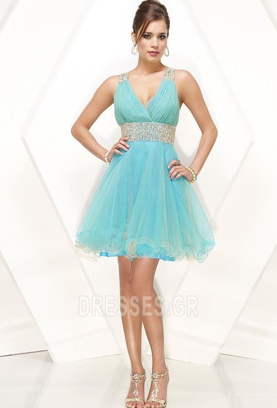 2dd6dc5596e Καλοκαίρι Λαιμόκοψη V Μέση αυτοκρατορία σύγχρονος Μπάλα φορέματα ...