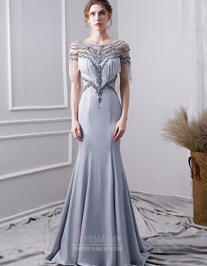 5bfa3cc79957 Φυσικό Έναστρο Πολυτελές Φερμουάρ επάνω Κοντομάνικο Βραδινά φορέματα -  Σελίδα 1 ...