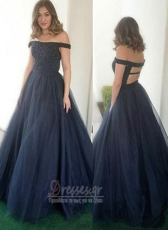 3ba5a03009 Κοντομάνικο Έτος 2020 Τούλι Πολυτελές Φυσικό Μπάλα φορέματα - dresses.gr
