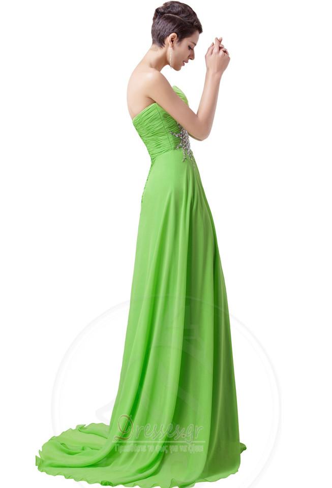 ffd17a50452e ... Οι πτυχωμένες μπούστο Σιφόν Γραμμή Α αγαπημένος Βραδινά φορέματα -  Σελίδα 3