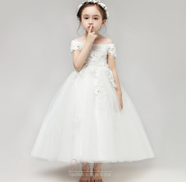 3e9c8745d567 Από τον ώμο κούνια Γραμμή Α Δαντέλα επικάλυψης Λουλούδι κορίτσι φορέματα - Σελίδα  1 ...