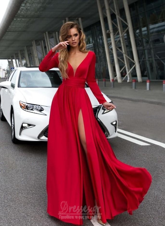 b93cf7d4924 ... Μπροστινό Σκίσιμο Κοντομάνικο Βαθιά v-λαιμός Βραδινά φορέματα - Σελίδα  3 ...