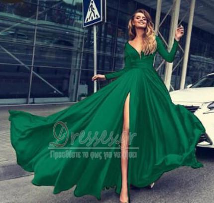 1194d97ccd6 ... Μπροστινό Σκίσιμο Κοντομάνικο Βαθιά v-λαιμός Βραδινά φορέματα - Σελίδα  5 ...