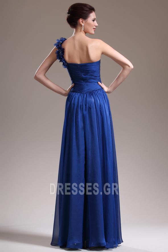 Ένας Ώμος Κομψό Ντραπέ Χαμηλή Μέση Αμάνικο Βραδινά φορέματα - Σελίδα 6