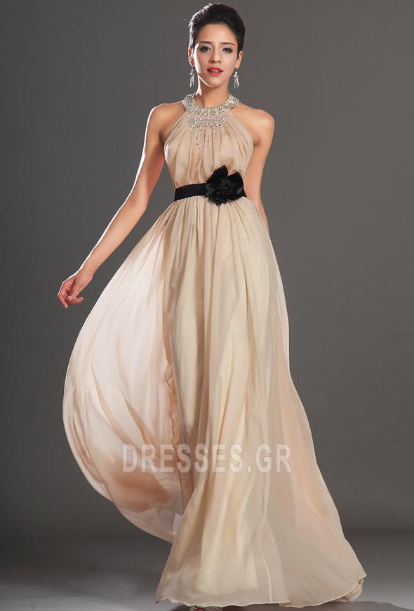 d0b7ca41749b Φερμουάρ επάνω Φυσικό Χάντρες Τονισμένα ροζέτα Βραδινά φορέματα - Σελίδα 1  ...