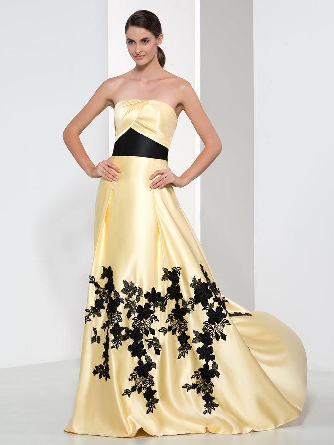 0a52fd7a764 Φερμουάρ επάνω Φυσικό Αμάνικο Οι πτυχωμένες μπούστο Βραδινά φορέματα ...