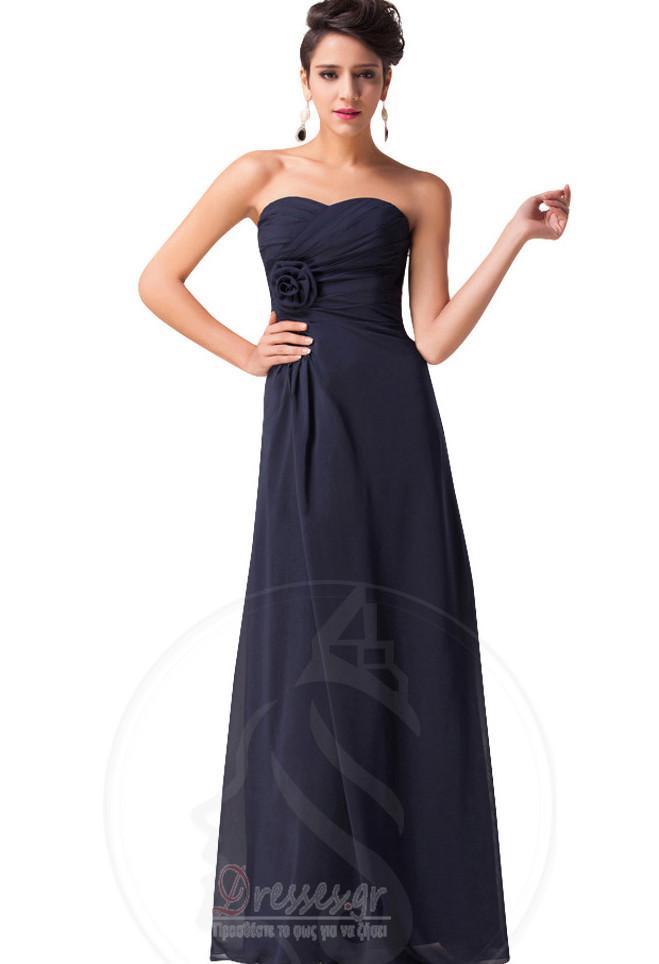 fced0e508bc Αμάνικο Φυσικό εξώπλατο Γραμμή Α Μήκος πατωμάτων Παράνυμφος φορέματα ...