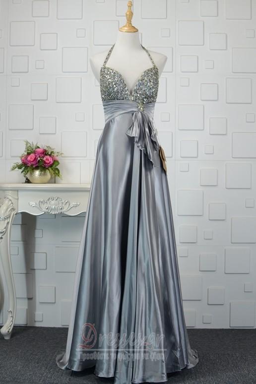 fdcd93c3fb23 Τόξο Ελαστικό σατέν Κόσμημα τονισμένο μπούστο Βραδινά φορέματα - Σελίδα 1  ...