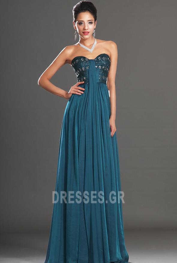 Αμάνικο αγαπημένος Μικροκαμωμένη Κόσμημα τονισμένο μπούστο Βραδινά φορέματα - Σελίδα 5