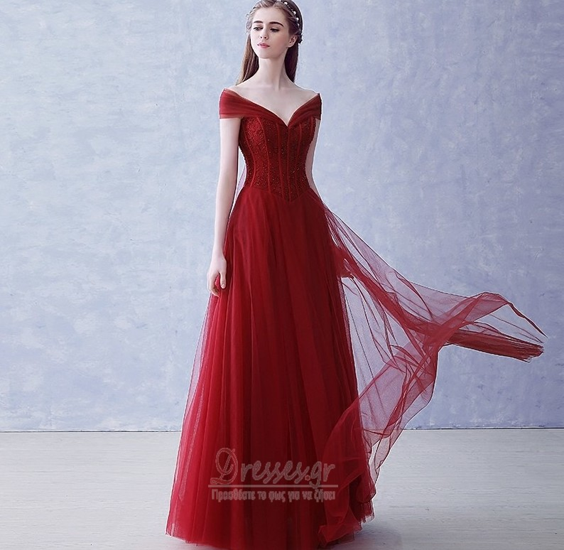 4f5b0c0164dd Λαιμόκοψη V Φθινόπωρο Πολυτελές Προσαρμοσμένες μανίκια Βραδινά φορέματα - Σελίδα  1 ...