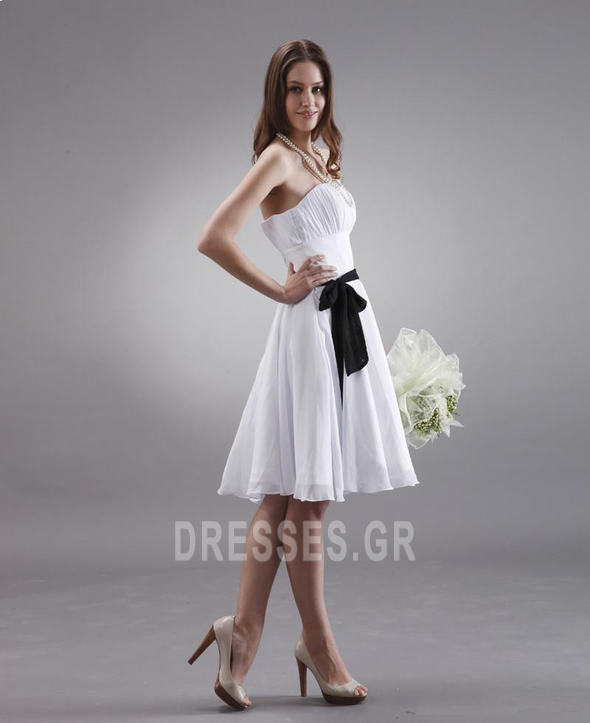 Μέχρι το Γόνατο Μικροκαμωμένη Τα μέσα πλάτη Παράνυμφος φορέματα - Σελίδα 5