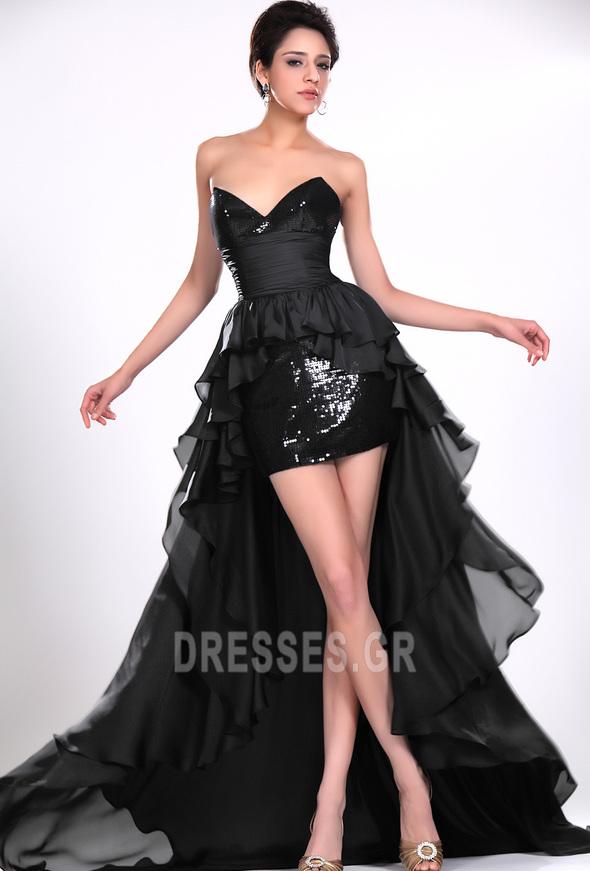 Σιφόν Μαύρο φύλλο Φυσικό Φερμουάρ επάνω σύγχρονος Κοκτέιλ φορέματα - Σελίδα 1