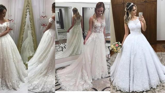 95bbc7548fd0 Δαντέλα νυφικά - dresses.gr